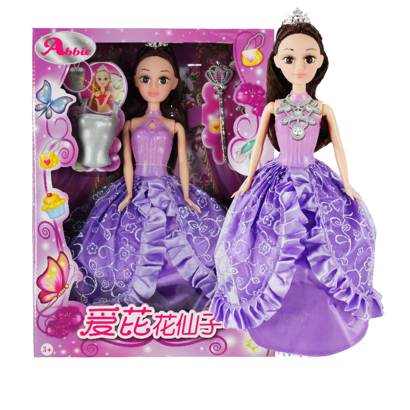 Abbie Flower Fairy Doll Purple 1 6 scale figure doll clothes male batman joker suit for 12 action figure doll accessories not include doll and other 1584