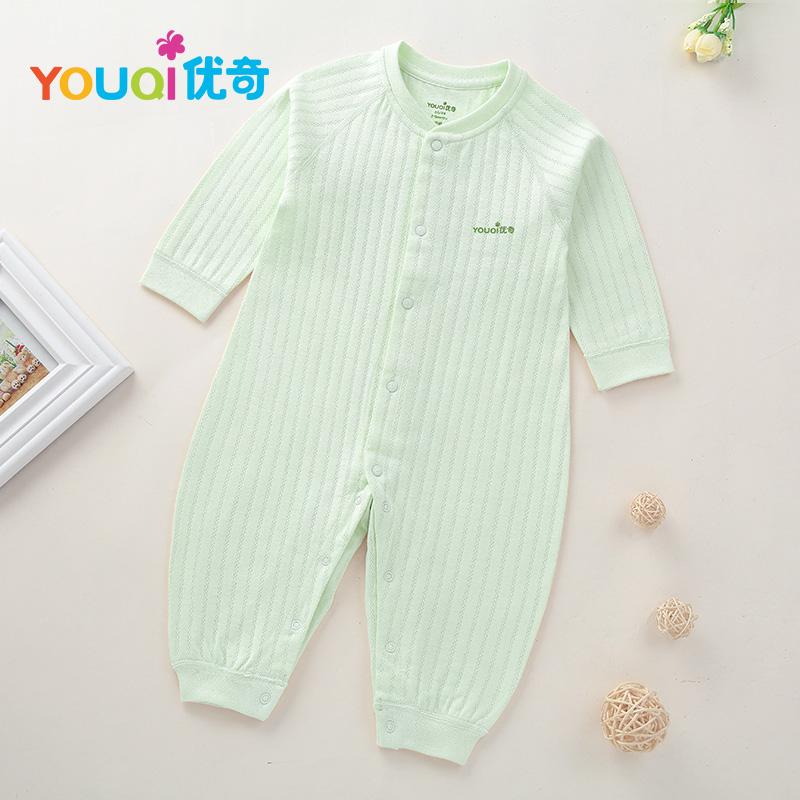 Зелёный цвет 6-9 Months lovely striped rompers для baby cotton baby girl одежда мальчик костюм для пижамы 1 3 6 9 месяцев с длинным рукавом весна осень