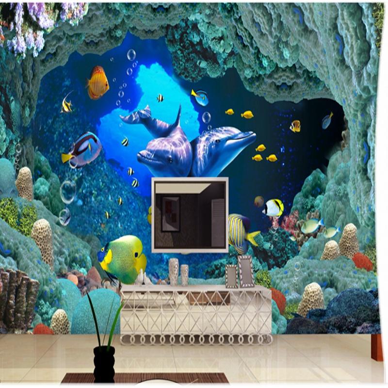 Colomac White пользовательские 3d обои для фото пещера природа ландшафт тв фон настенная роспись обои для гостиной спальня фон арт декор