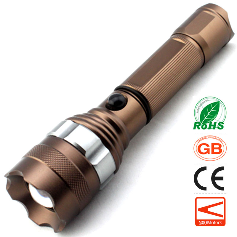 lomon Коричневый 200m-500m super bright tactical liaght 32000lm 24x xml t6 led flashlight torch waterproof camping hunting light only torch no battery