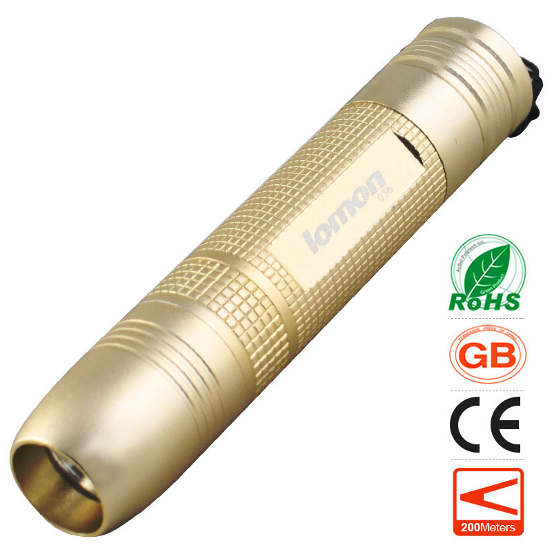 lomon Цвет шампанского 200m-500m white purple yellow light led flashlight stainless steel torch 18650 rechargeable uv torch olight jade identification page 2