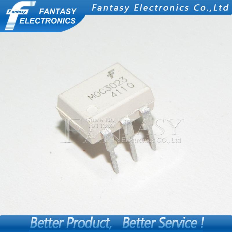 IC 30pcs free shipping 100% new original new original moc3023 photocoupler triac driver dip 6 in line
