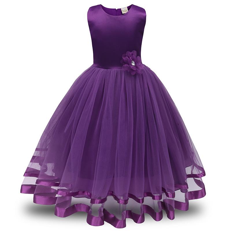 Фиолетовый цвет 130 платья для девочек
