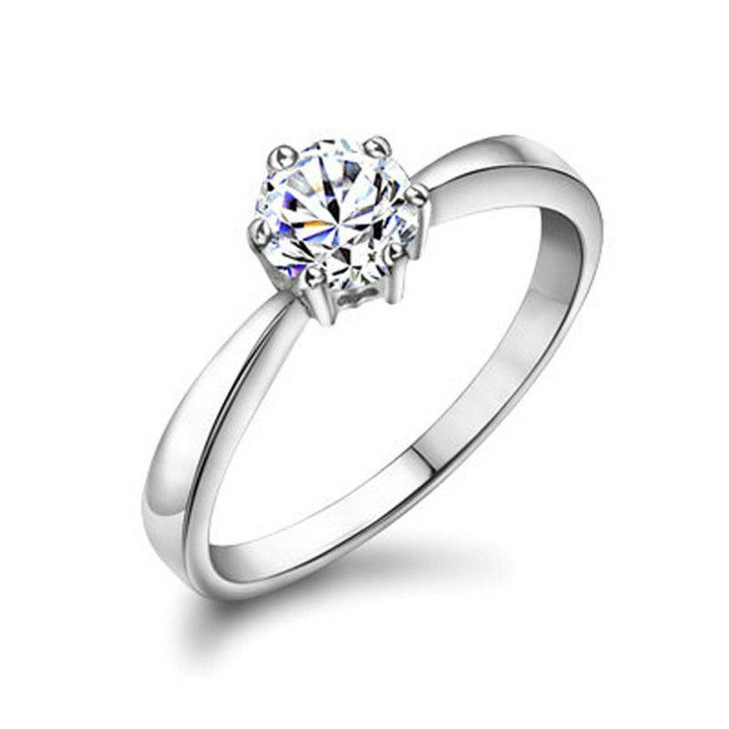 yoursfs Серебряный 8 yoursfs® 18k white gold plated 1 2ct simulated diamond promise rings используйте австрийские ювелирные украшения из кристалла