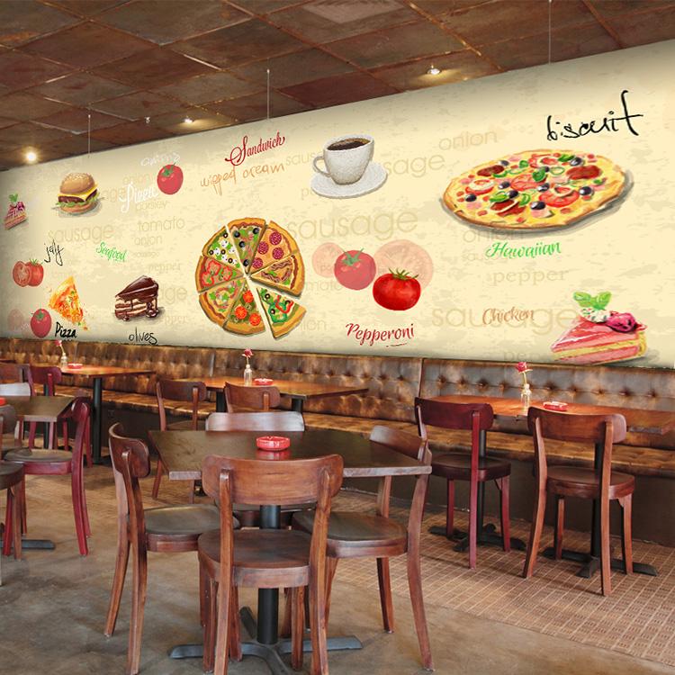 Colomac White фото обои европейский стиль ретро пекарня выпечка обои досуг западный ресторан кофе фон обои роспись