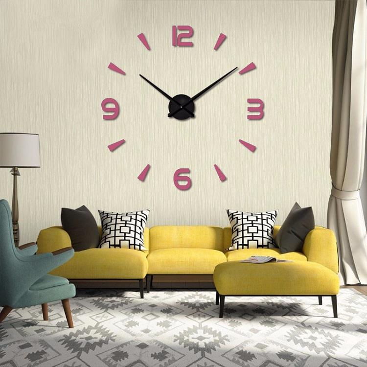 Часы настенные часы настенные часы электронные электронные настенные декоративны suwumu Розовый цвет фото