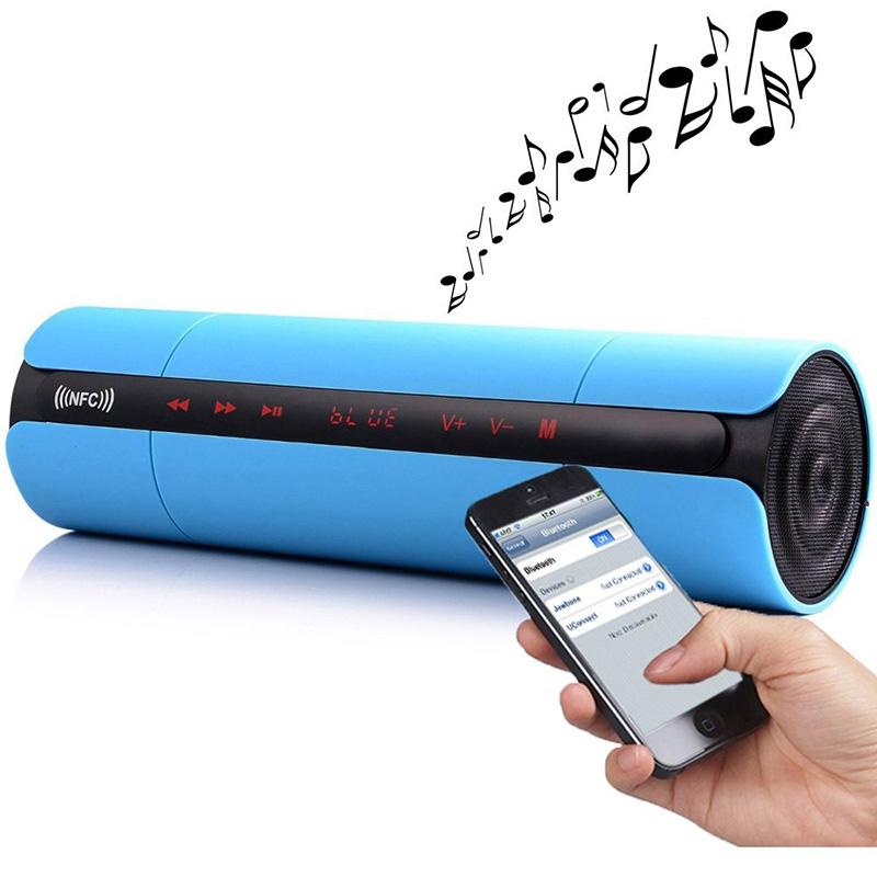 Синий цвет водонепроницаемый портативный стерео звук динамик bluetooth pioneer pioneer momo может впитывать большой синий