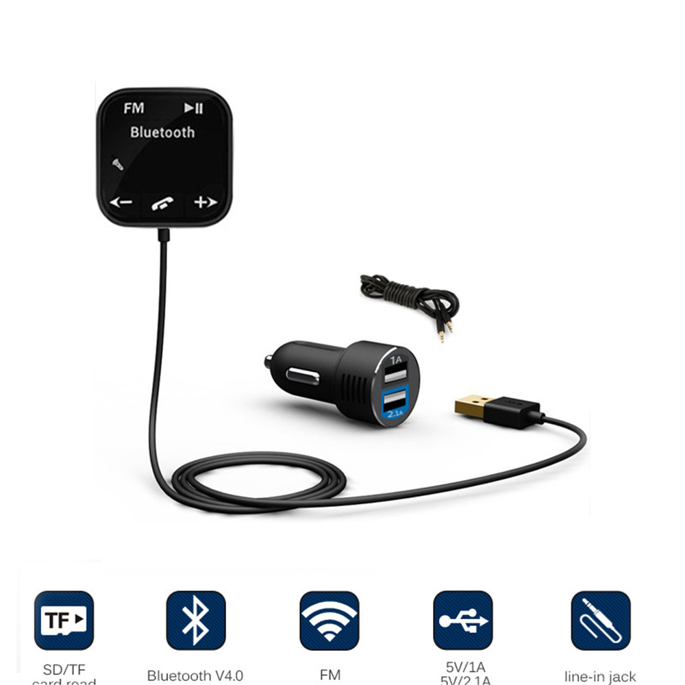 Bluetooth Car 3 in 1 universal car kit mp3 player fm transmitter bluetototh car modulator radio dual port car charger for iphone for samsung
