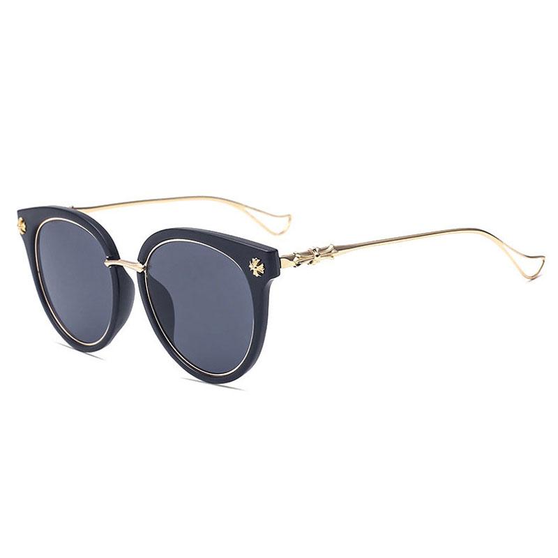 LIKEU S NO1 Black &amp Модные женские солнцезащитные очки Круглые солнцезащитные очки