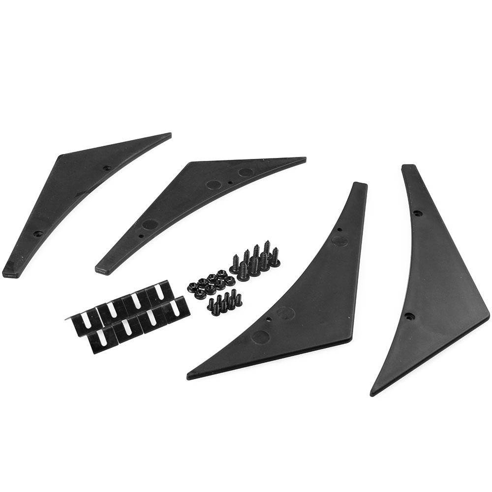 RYANSTAR ryanstar racing universal vortex generator air diffuser fin car bumper rear roof wing spoiler carbon bracket rear spoilers