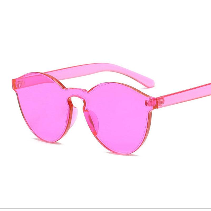 LIKEU S NO6 Rose Red Круглый солнцезащитные очки для девочек colorexclusive sungl 001