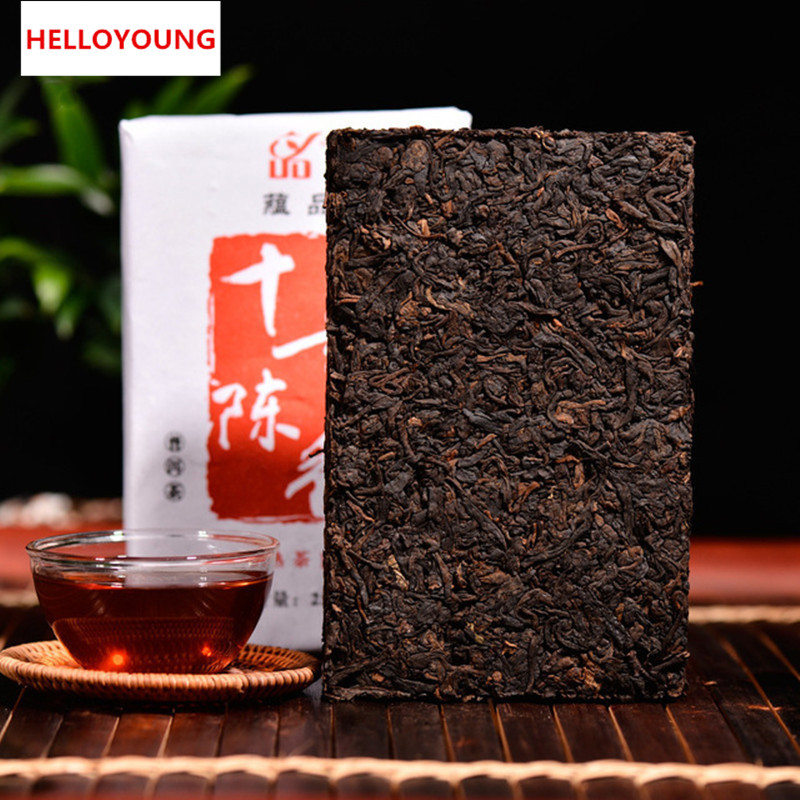 HelloYoung китай юньнань puerh чай 357g сырье puer китайский menghai shen taetea 357g pu er зеленая еда здравоохранение pu erh торт pu er чай 357g