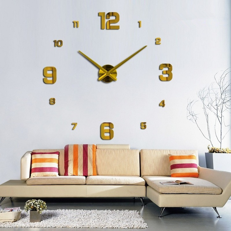 Часы настенные часы настенные часы настенные часы настенные декорации для гостин suwumu Золотой цвет фото