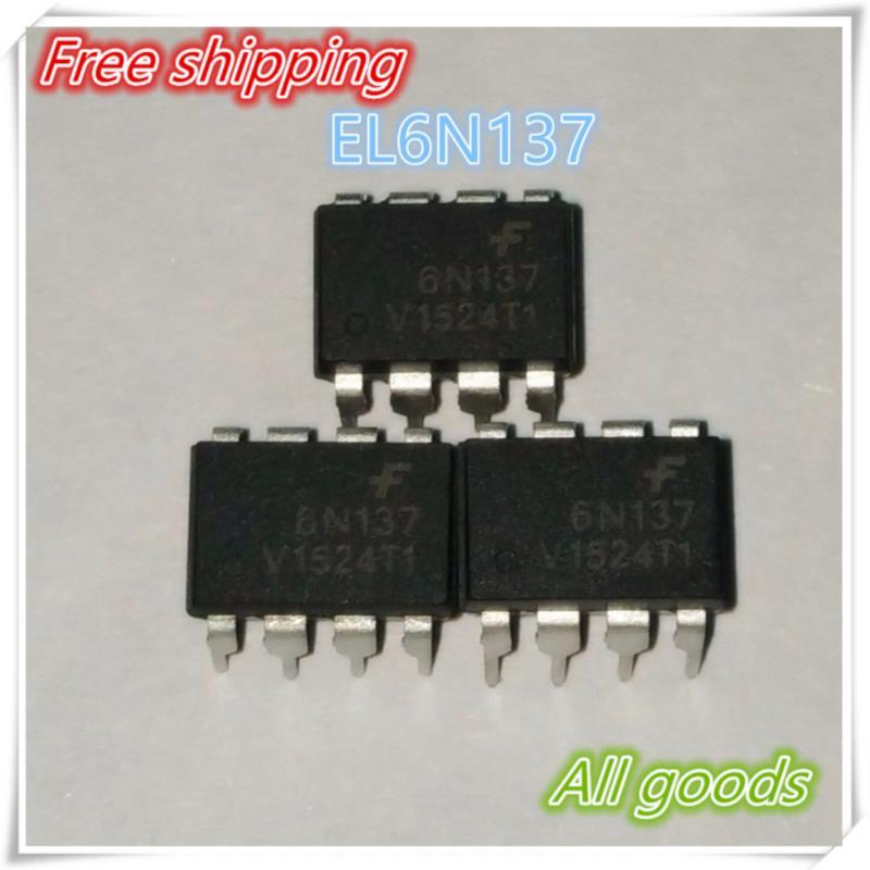 IC free shipping 50pcs 6n137 el6n137 dip 8 100