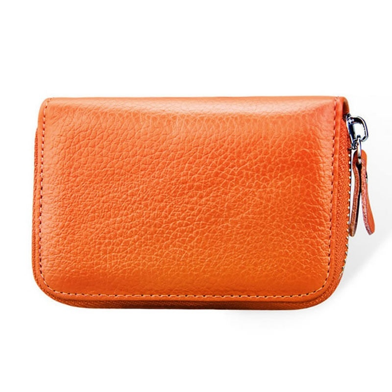 CANIS Оранжево-красный high quality women pu leather small mini wallet credit card id holder with key ring ladies change coin purse clutch bags handbag