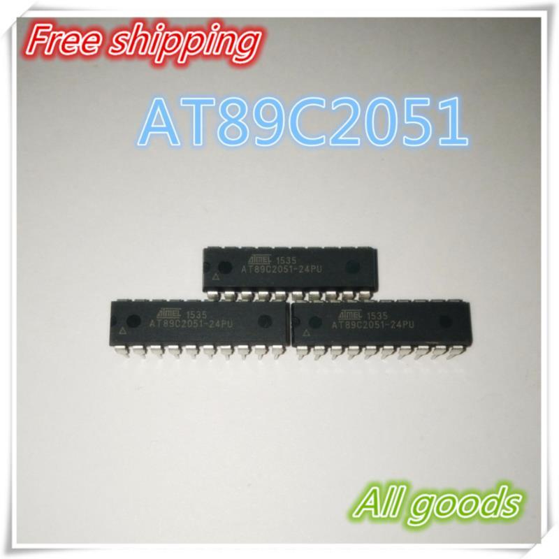 IC 10pcs lot at89c2051 24pu at89c2051 dip 20