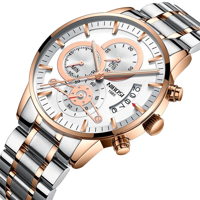 NIBOSI Мужские наручные часы из горного хрусталя 2017 мужские часы известные лучшие роскошные бренды кварцевые часы мужские наручные часы мужской наручные часы