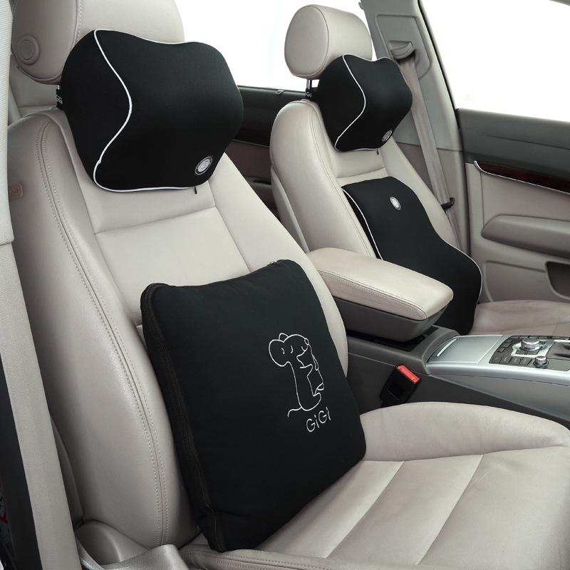 JD Коллекция A3 семья из четырех человек черный дефолт автомобиль шеи подушки автомобиля поясничного поясничная на четыре сезона универсальные creative авто аксессуары интерьера пакет почты