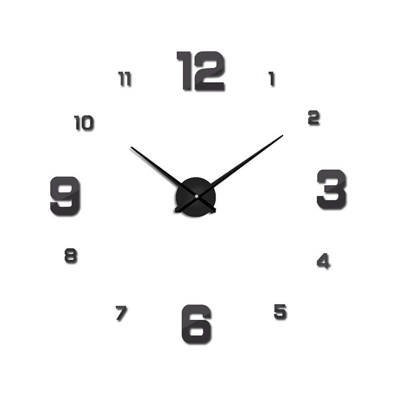 suwumu Серый цвет настенные часы oem diy 3d relogio cozinha