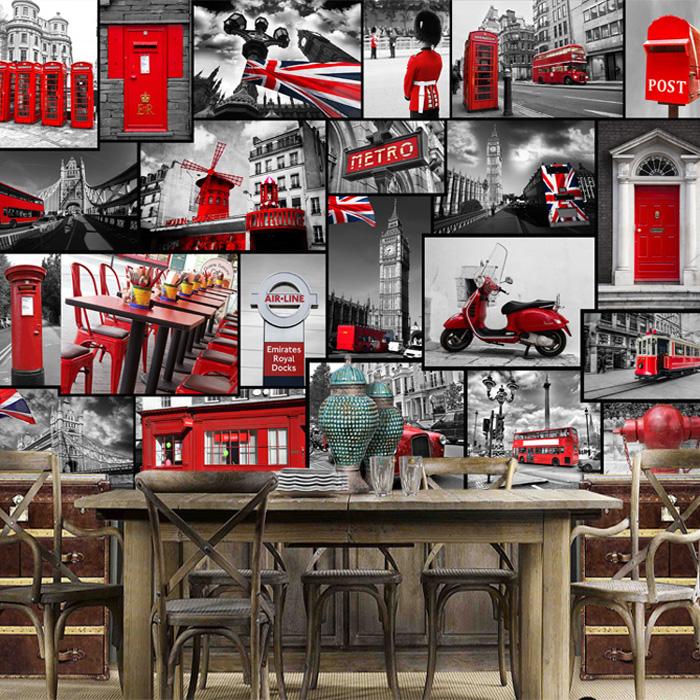 Colomac Смешанный цвет пользовательские 3d росписи 3d ретро кирпичный узор белый кирпич обои кафе бар фон роспись нетканые обои
