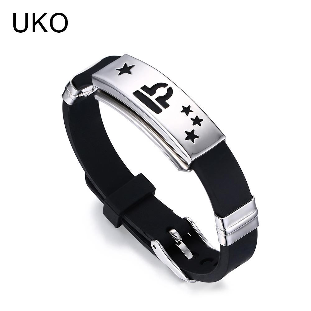 UKO череп натуральная кожа мужской браслет из нержавеющей стали wrap браслет для мужчин классический браслет мужские браслеты для мужч