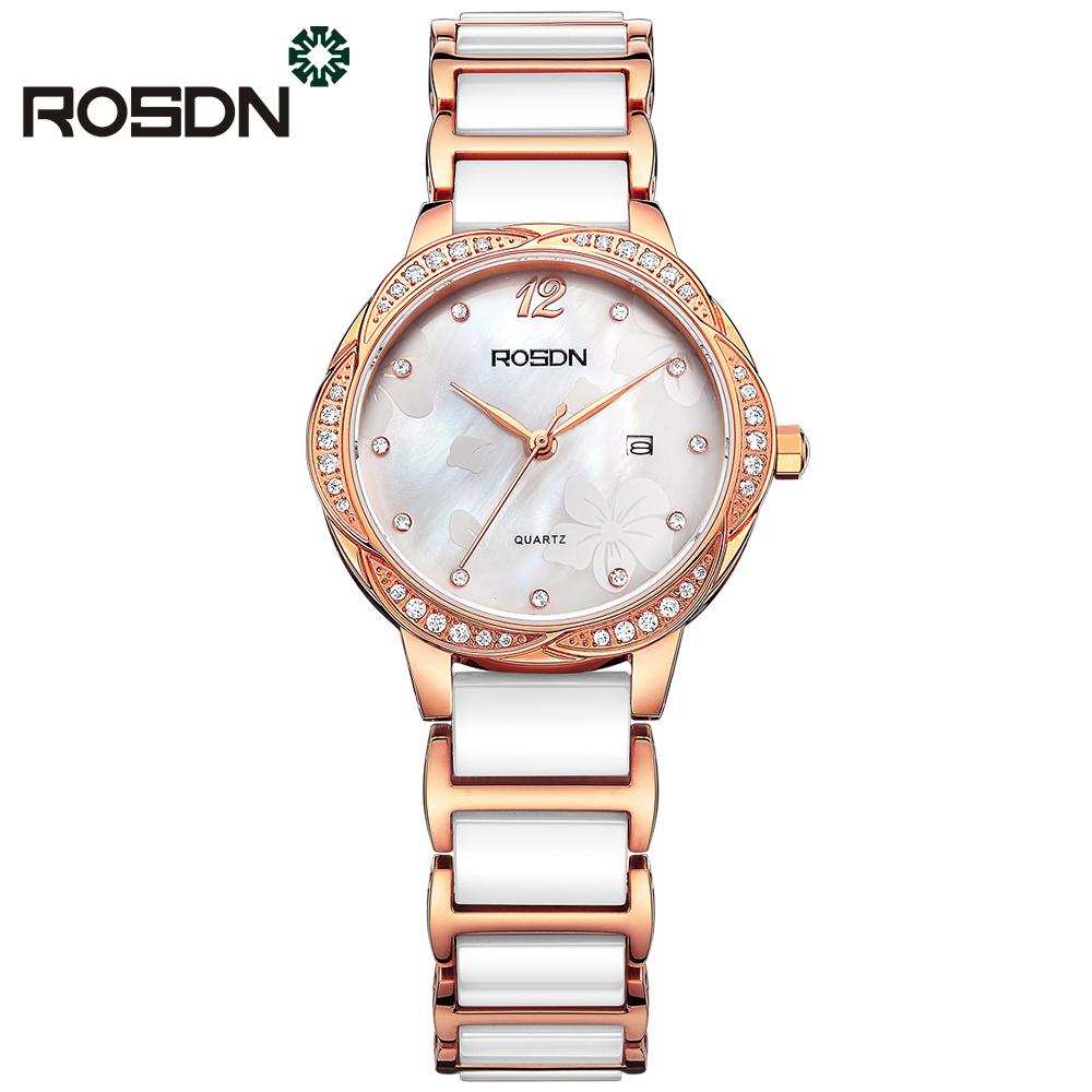 ROSDN Золотые женские часы золотые часы