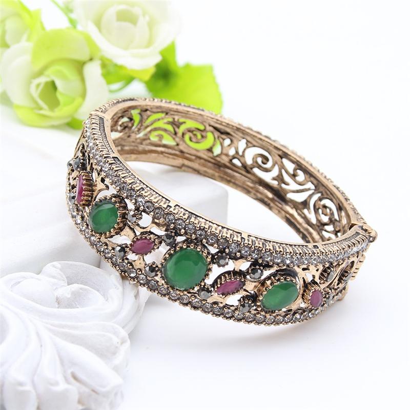 SUNSPICE MS Зеленый браслет браслеты браслеты браслеты турецкие симметричные ювелирные изделия цветочного искусства