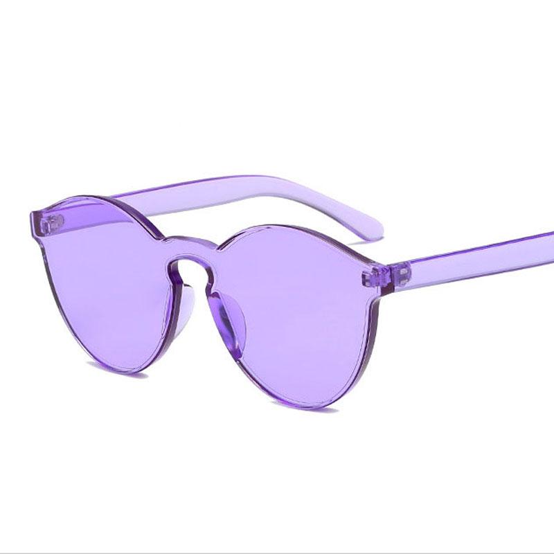 LIKEU S NO8 Фиолетовый Круглый солнцезащитные очки для девочек colorexclusive sungl 001