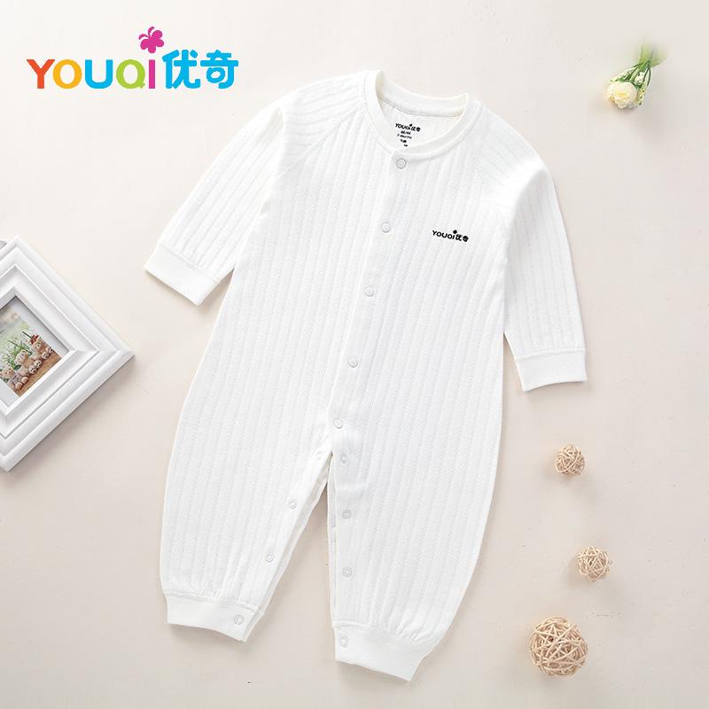 Белый цвет 6-9 Months lovely striped rompers для baby cotton baby girl одежда мальчик костюм для пижамы 1 3 6 9 месяцев с длинным рукавом весна осень