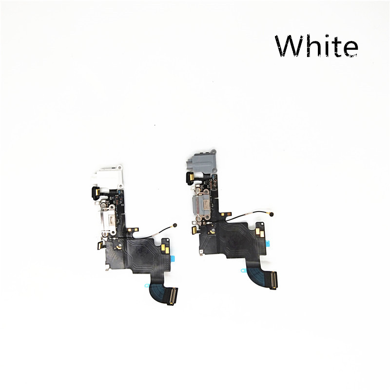 jskei белый genuine repair part replacement headphone audio jack flex cable for iphone 4s