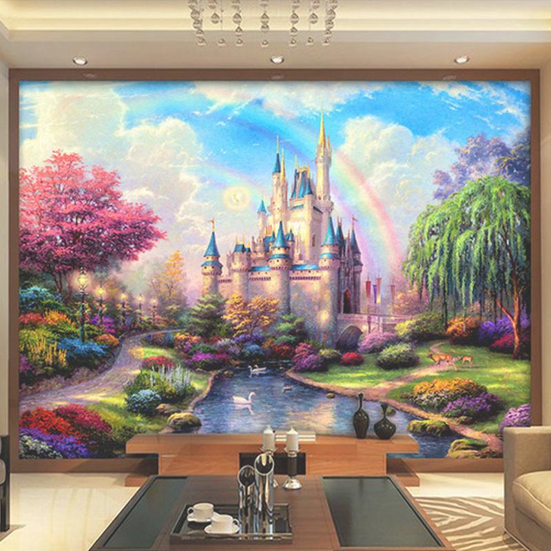 Colomac Смешанный цвет custom 3d mural европейский стиль замок здание большой 3d ресторан бар кофейня спальня телевизор фон стена настенная роспись обои