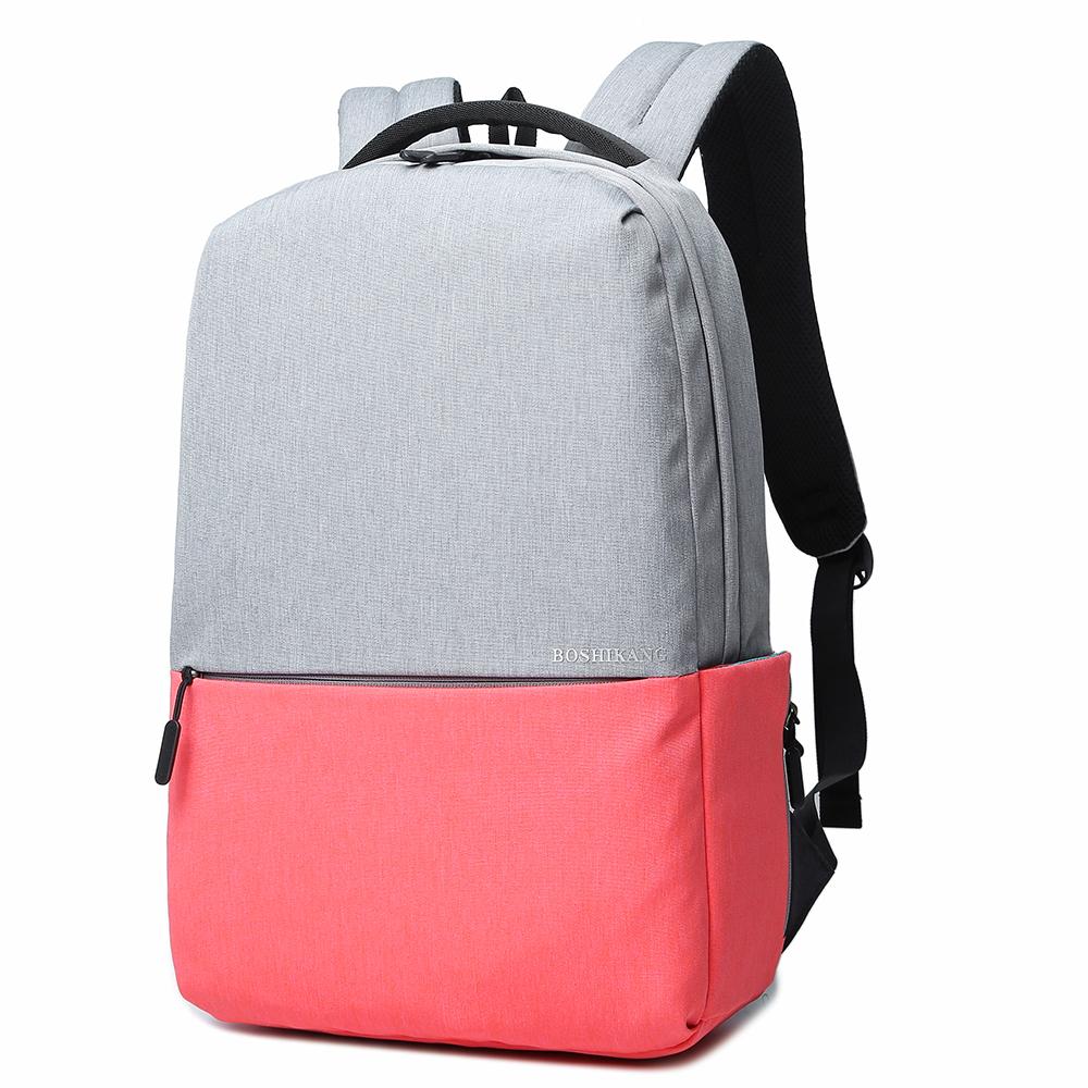 Boshikang Розовый цвет 156 дюймов мужчины и женщины школьная сумка подросток рюкзак повседневная сумка дорожная су
