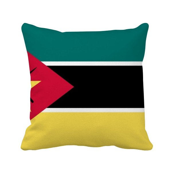 DIYthinker mozambiquenational flag africa country square throw pillow insert cushion cover home sofa decor gift