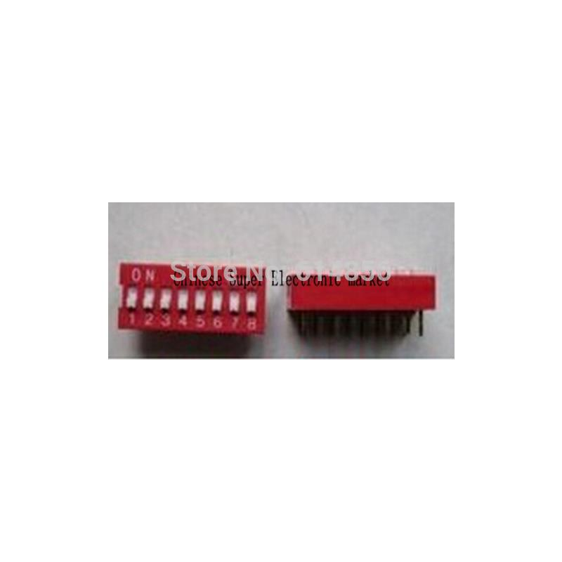 IC 100pcs 2p 2 position dip switch 2 54mm pitch 2 row 4 pin dip switch