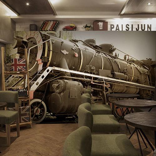 Colomac Yellow современный нью йорк ночью просмотр фото mural обои гостиная ktv бар кафе ресторан фон обои облицовка papel murals 3d