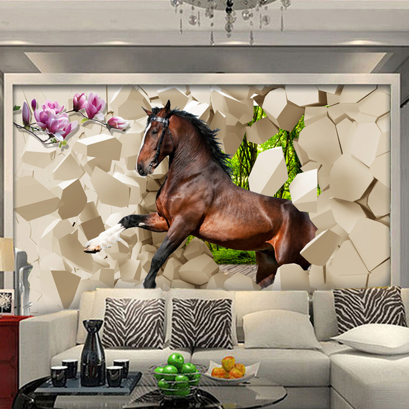 Colomac Смешанный цвет высококачественные пользовательские 3d обои для обоев для спальни 3d ландшафт для сада и сада