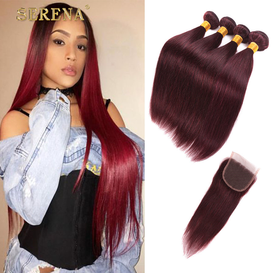 Оптовые бразильские прямые волосы с закрытием anruina 20 22 24 26 с 18 фото
