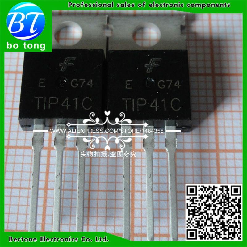 IC free shipping 40pcs lot tip41c tip42c darlington transistor pair tube to 220 new original