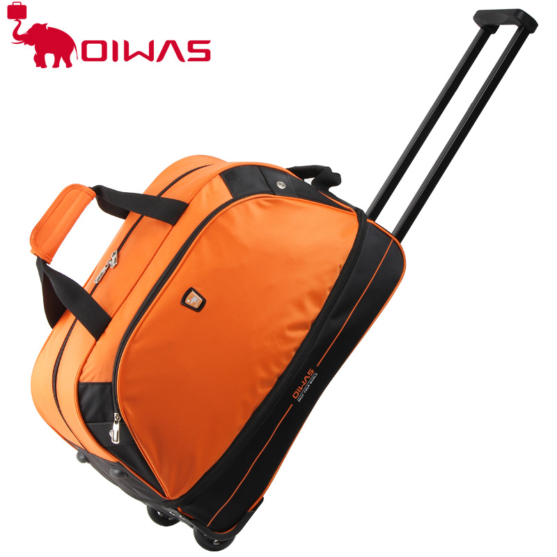 OIWAS Оранжевый цвет1 baibu high quality waterproof travel trolley backpack luggage bags wheeled carry ons bags large capacity trolley bags for laptop