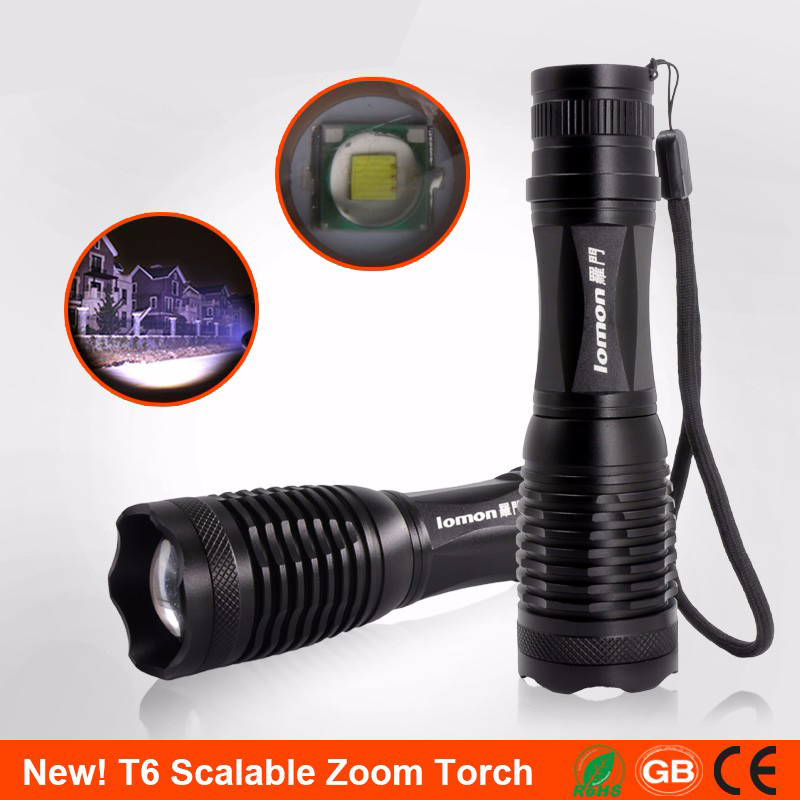 lomon 200m-500m q5 240lumens 3modes outdoor bicycle led flashlight mount for 18650 aaa
