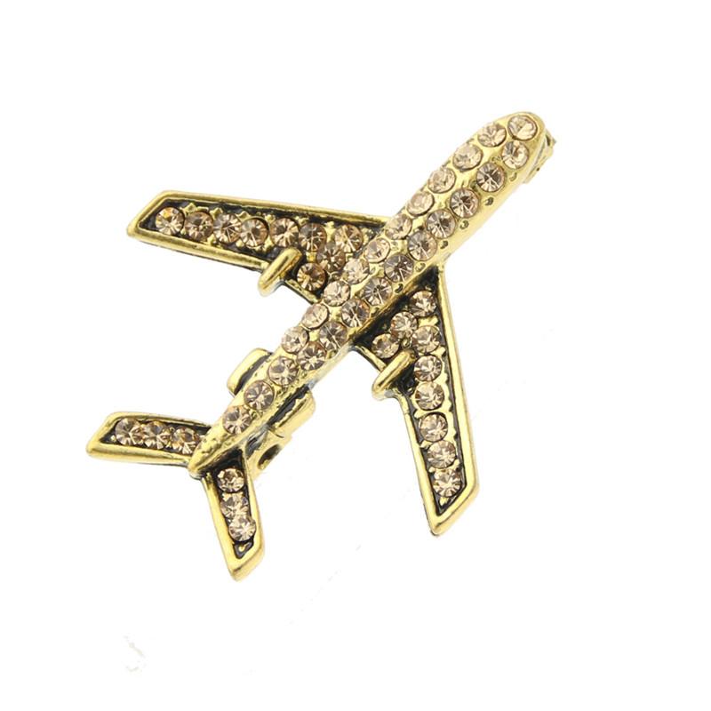 SUNSPICE MS Жёлтый цвет Классический сувенир брошь деревянная самолет