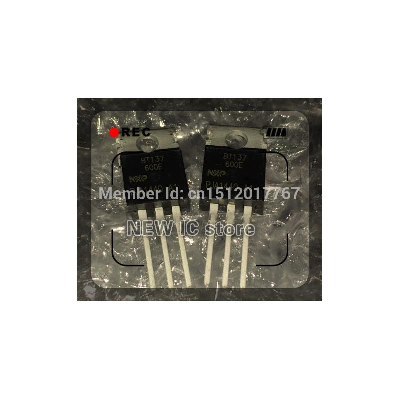 IC free shipping 50pcs bt137 600e bt137 600 bt137 triacs logic level 600v 8a