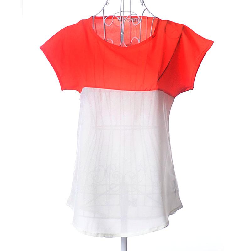 Mink Keer фуксин S marulong s0002 women s fashionable flower pattern short sleeved nightdress green multi color