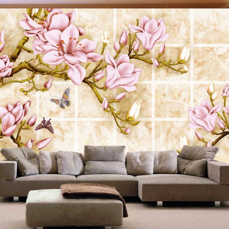 Ролл Розовый Тюльпан Бабочка Стена Colomac Смешанный цвет фото