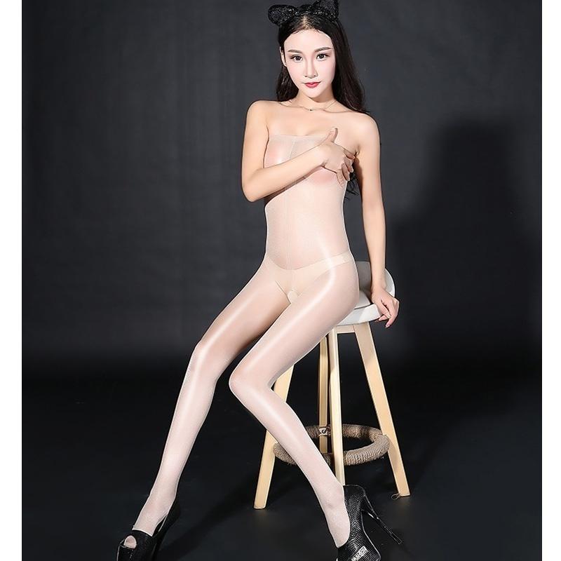 WHAQS абрикос Style 1 женская мода сексуальное масло блестящие глянцевые чулки женское открытое колготки колготки bodystockings lingerie для lady