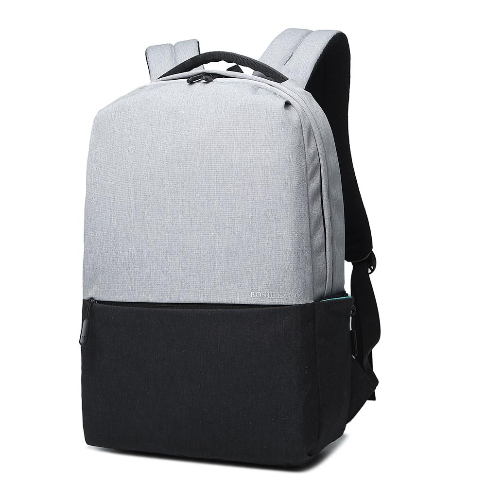Boshikang Чёрный цвет 156 дюймов мужчины и женщины школьная сумка подросток рюкзак повседневная сумка дорожная су