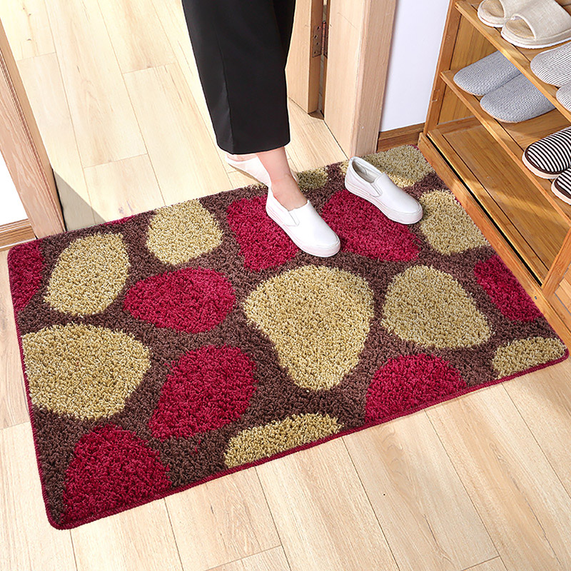 JD Коллекция малиновый 100 150см богатый рейтинг foojo кухня моющийся нескользящие коврики для вытирания ног 45 120см черный фон с синими цветами