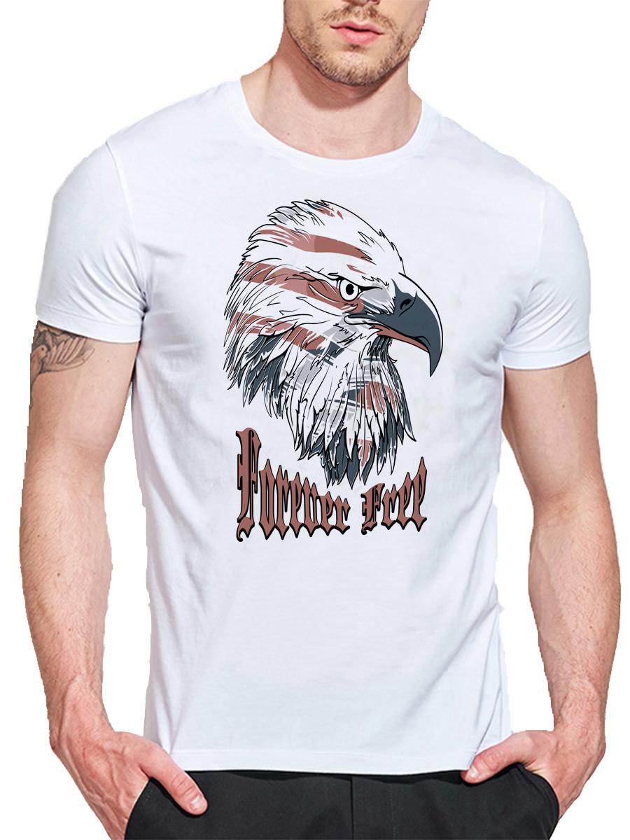 Фото - SHENDA XL мужская o шея повседневная короткие рукава мода хлопковые футболки caribou head digital print