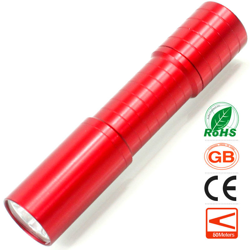 lomon Красный 50m-100m mini led flashlight long range keychain keyring best gift present waterproof handy pocket torchlight aluminum alloy lamp