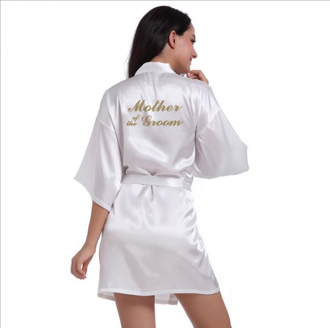 Рубашка Свадебный шелковый атлас Халат Халат Халат Новый oye белый XL фото